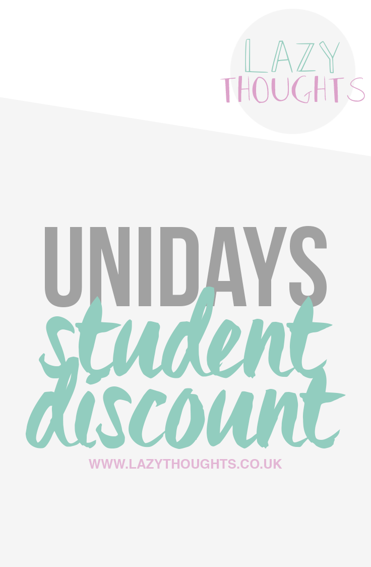 UNiDAYS Student Discount - lazythoughts.co.uk - What is UNiDAYS and how can you use it to get the best student deals.