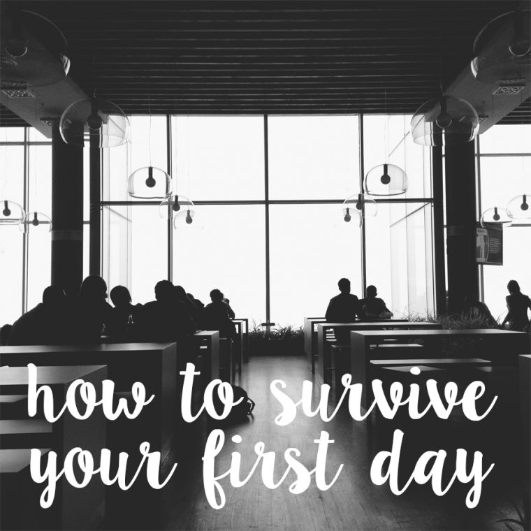 how to survive your first day at university | lazythoughts.co.uk