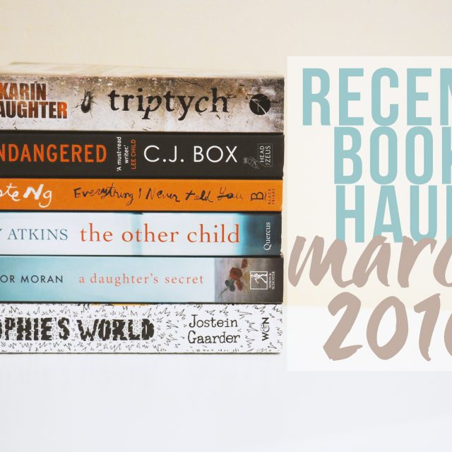 Recent Book Haul March 2016 - lazythoughts.co.uk