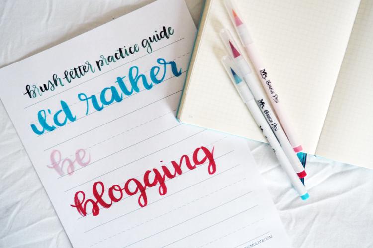 Brush Lettering For Your Bullet Journal