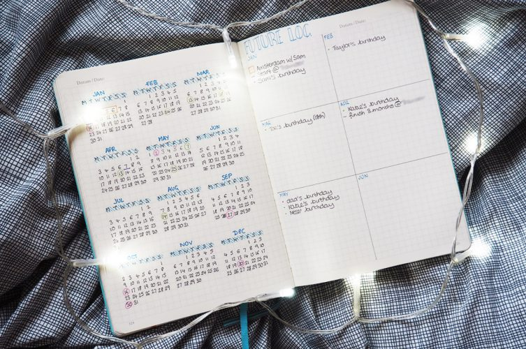New Year Bullet Journal Overview