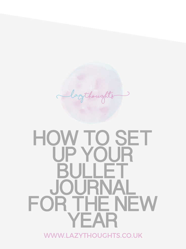 How to set up your bullet journal for the new year