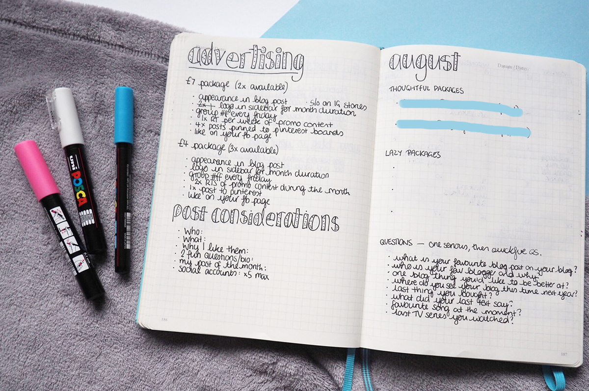 How I actually use my bullet journal