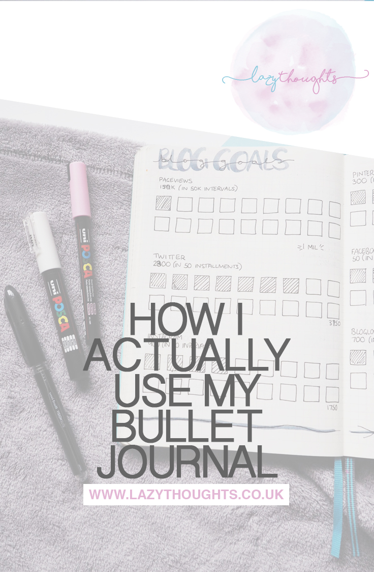 Wanna know how I *really* use my bullet journal? It's not all Instagrammable or Pinterest-worthy layouts. Have a peek - lazythoughts.co.uk