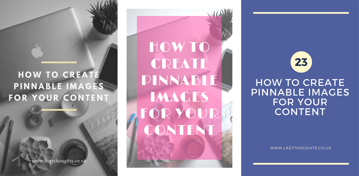 How to create Pinnable images for your content