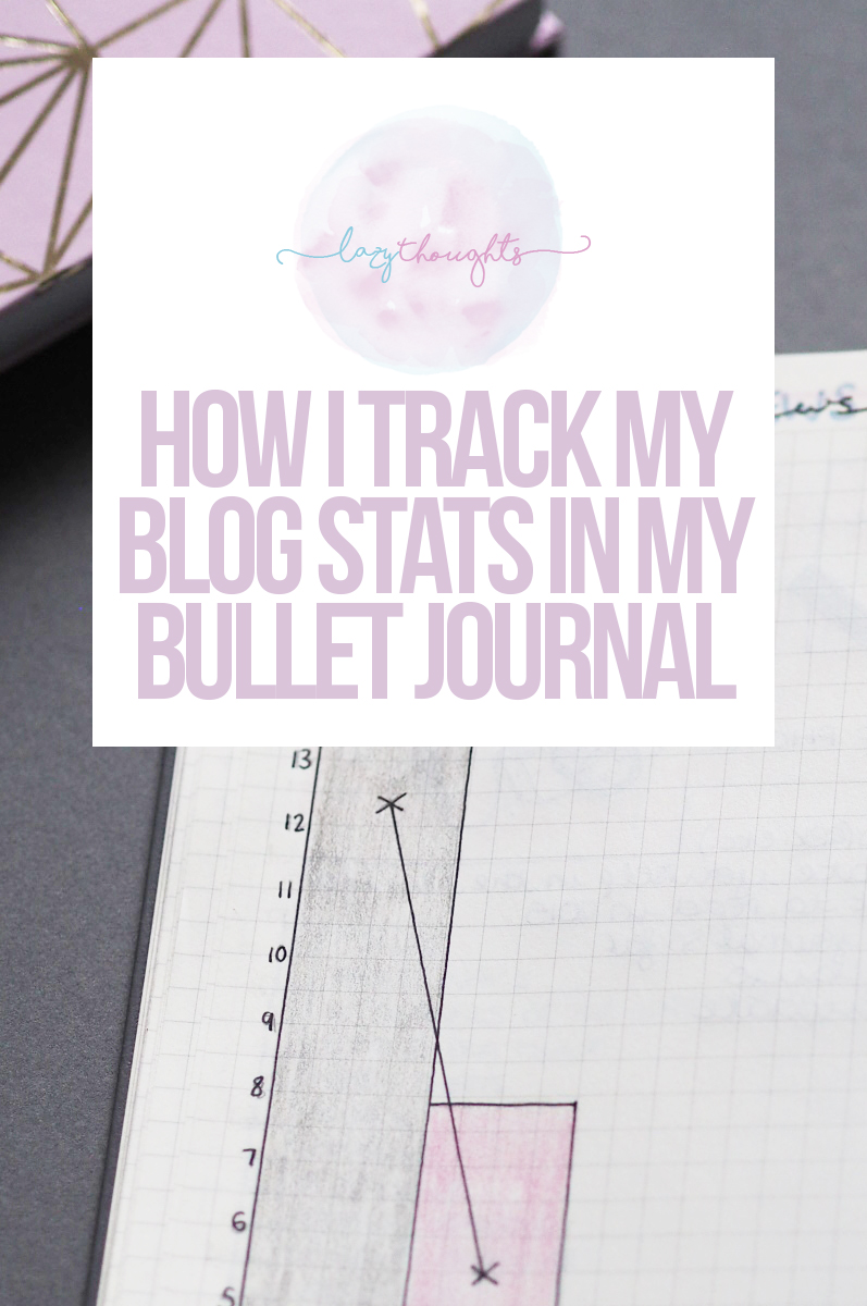 How I track my stats in my bullet journal / come and have a nosy at the layouts I use to track my monthly blog stats | lazythoughts.co.uk