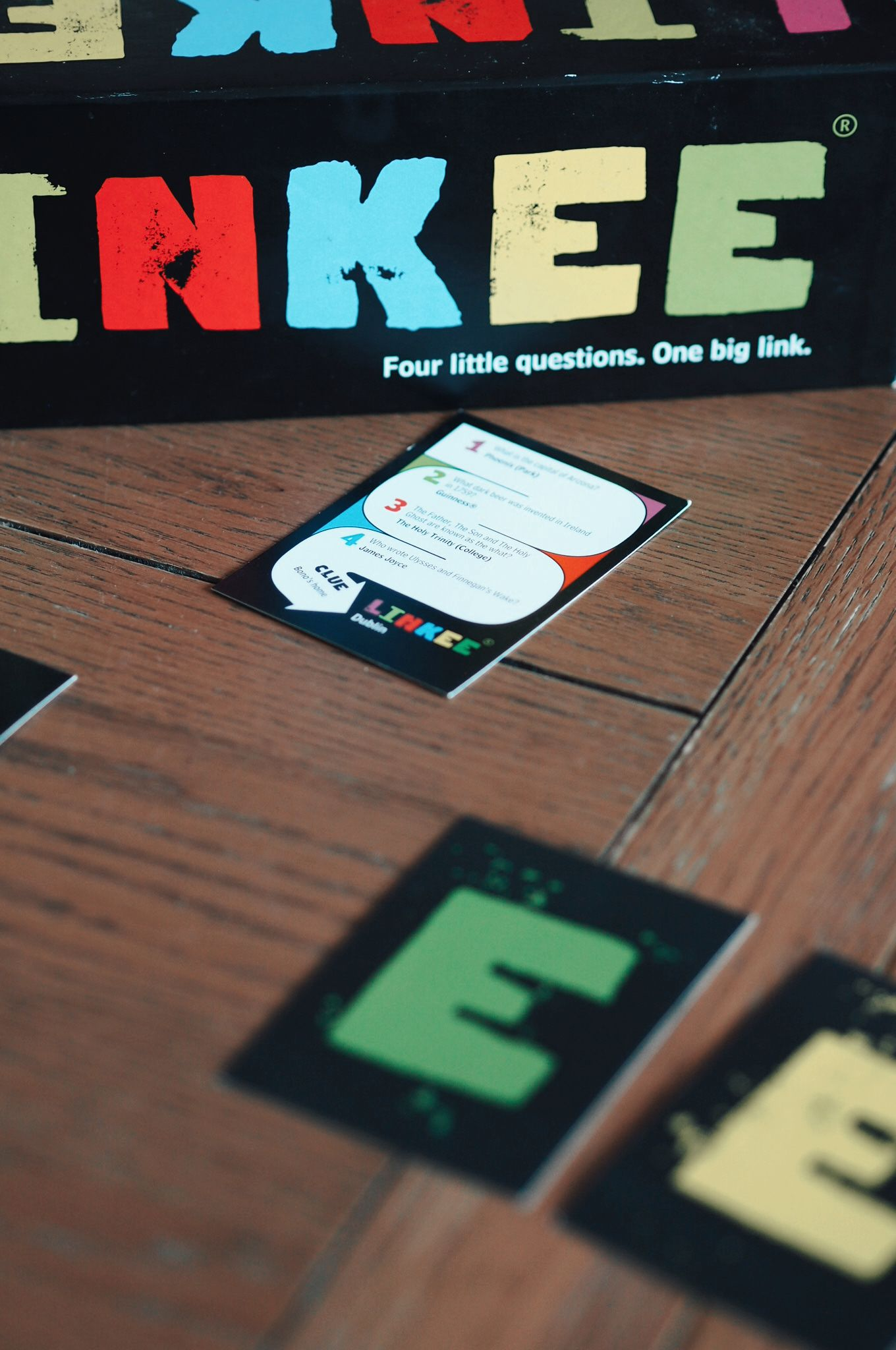 Linkee board game cards